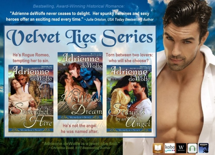 The Velvet Lies series of Historical Western Romances by national bestselling author, Adrienne deWolfe